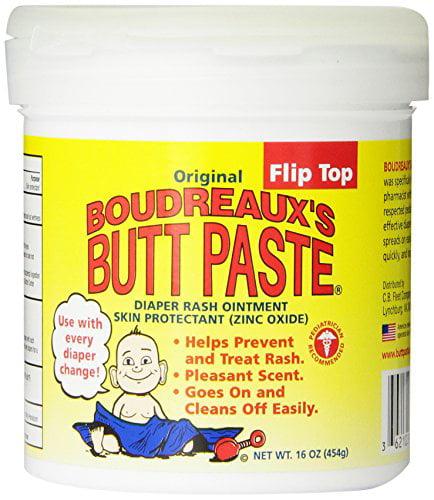 2 Pack Boudreaux's Butt Paste, Orignal Diaper Rash Ointment Jar 16 oz Each by CB Fleet