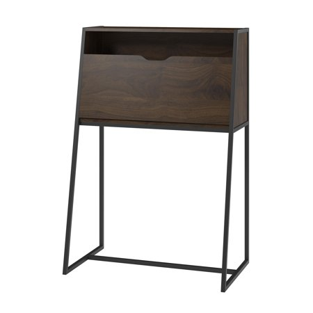 Ameriwood Home Vance Secretary Desk, Walnut Finish