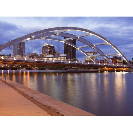 Frederick Douglass and Susan B. Anthony Memorial Bridge, Rochester, New York State, USA Print Wall Art By Richard Cummins