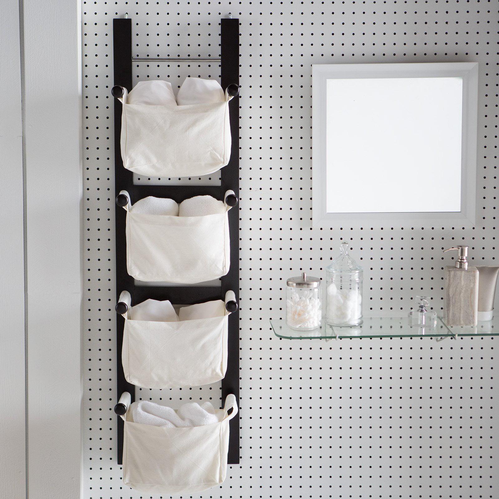 Storage/Magazine Rack With 4 Canvas Baskets   Walmart.com
