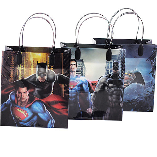 Batman vs Superman Dawn Justice Authentic Licensed 12 Party Favor Reusable Goodie Medium Gift Bags 8""