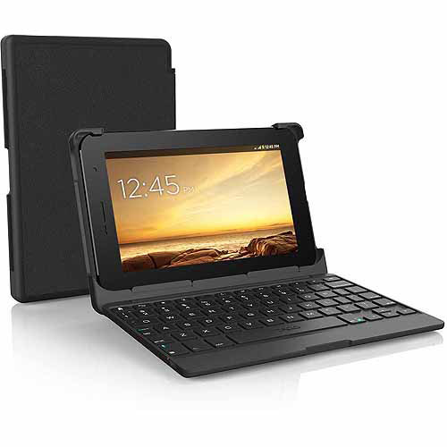 "ZAGG Universal Auto-Fit Adjustable Folio Keyboard for 7"" Tablets - Black"