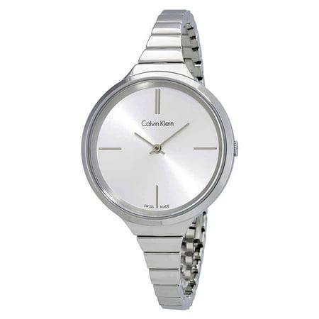 - Calvin Klein Lively Silver Dial Ladies Stainless Steel Watch K4U23126