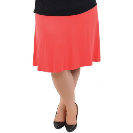 a5856a72b8 Stretch Is Comfort - Knee Length A-Line Flowy Skirt | Comfortable Clothes  for Women and Girls | Child Small - Adult 5X - Walmart.com