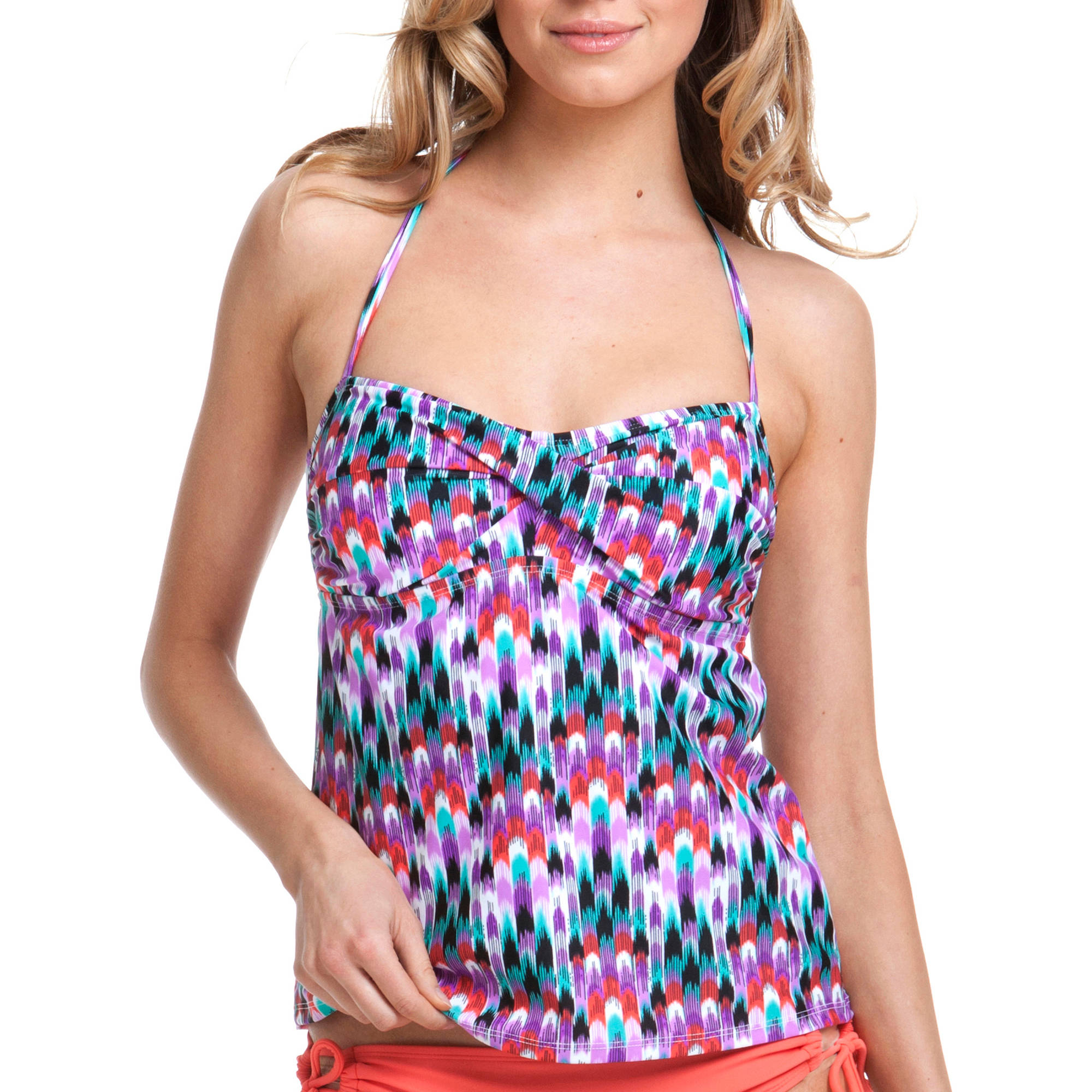 Catalina Women's Twist Bandeau Tankini Top