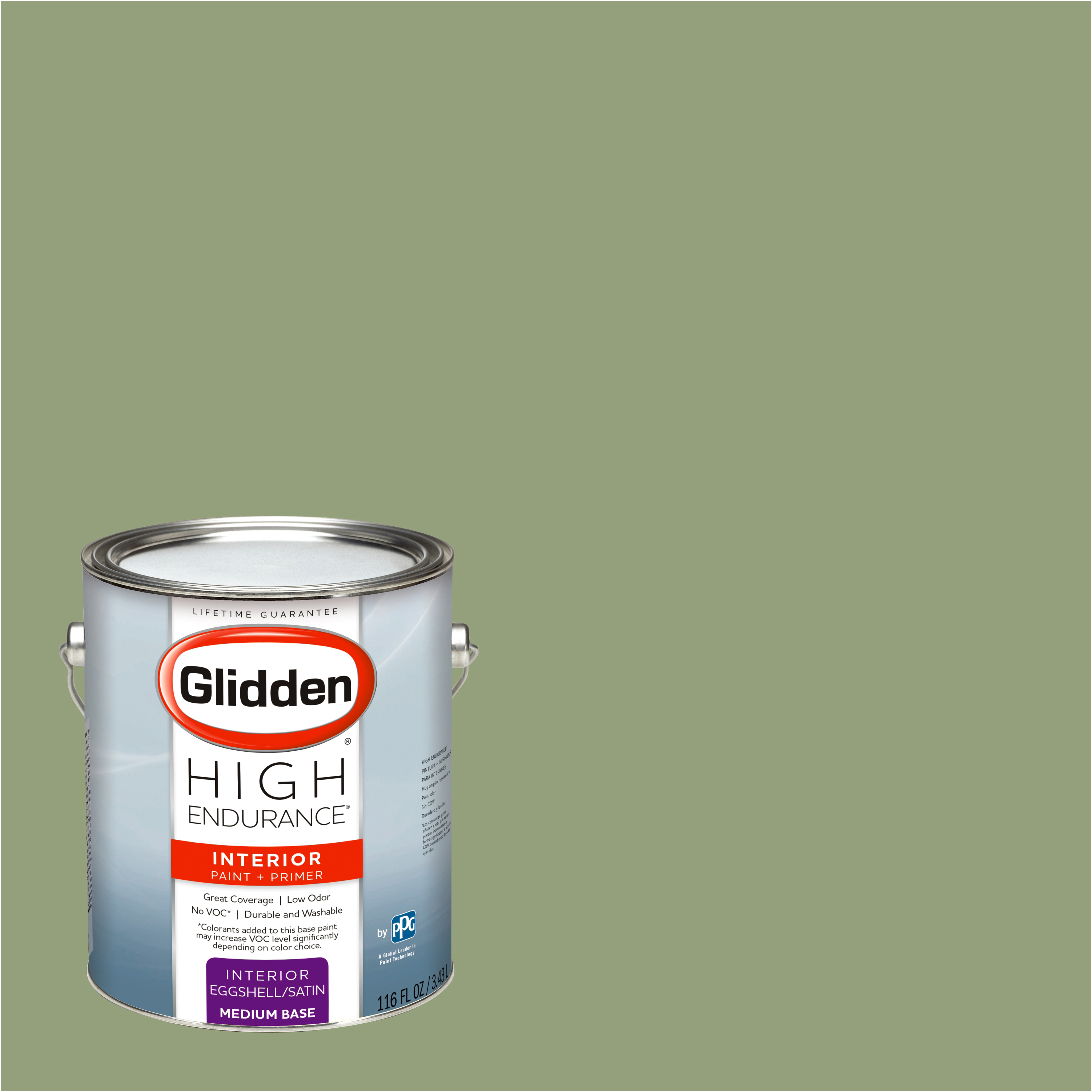 Glidden High Endurance, Interior Paint and Primer, Olive Grove, # 10GY 32/204