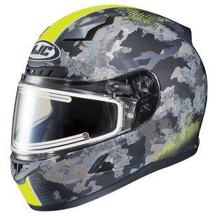 Hjc Cl 17 Void Electric Snow Helmet Matte Hi Viz Yellow Camo