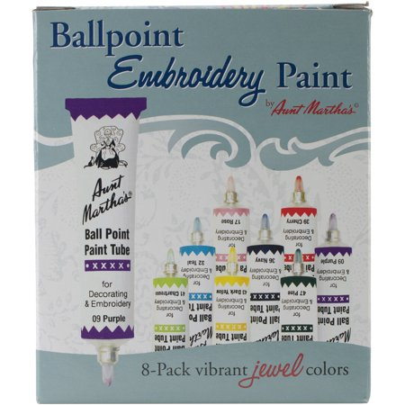 Aunt Martha's 1 Ounce Jewel Colors Ballpoint Paint Tubes, 1 - Martha Stewart Paint Colors