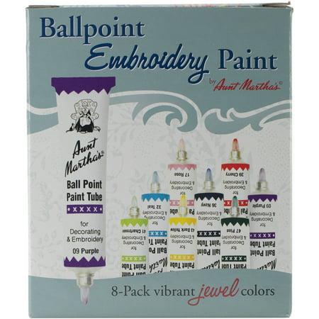 - Aunt Martha's Ballpoint Paint Tubes 1oz 8/Pkg-Jewel Colors