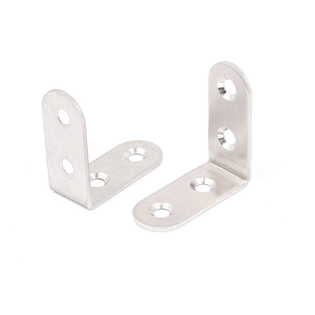 40mmx40mm L Shape Stainless Steel Shelf Corner Brace Repair Angle Bracket 2pcs