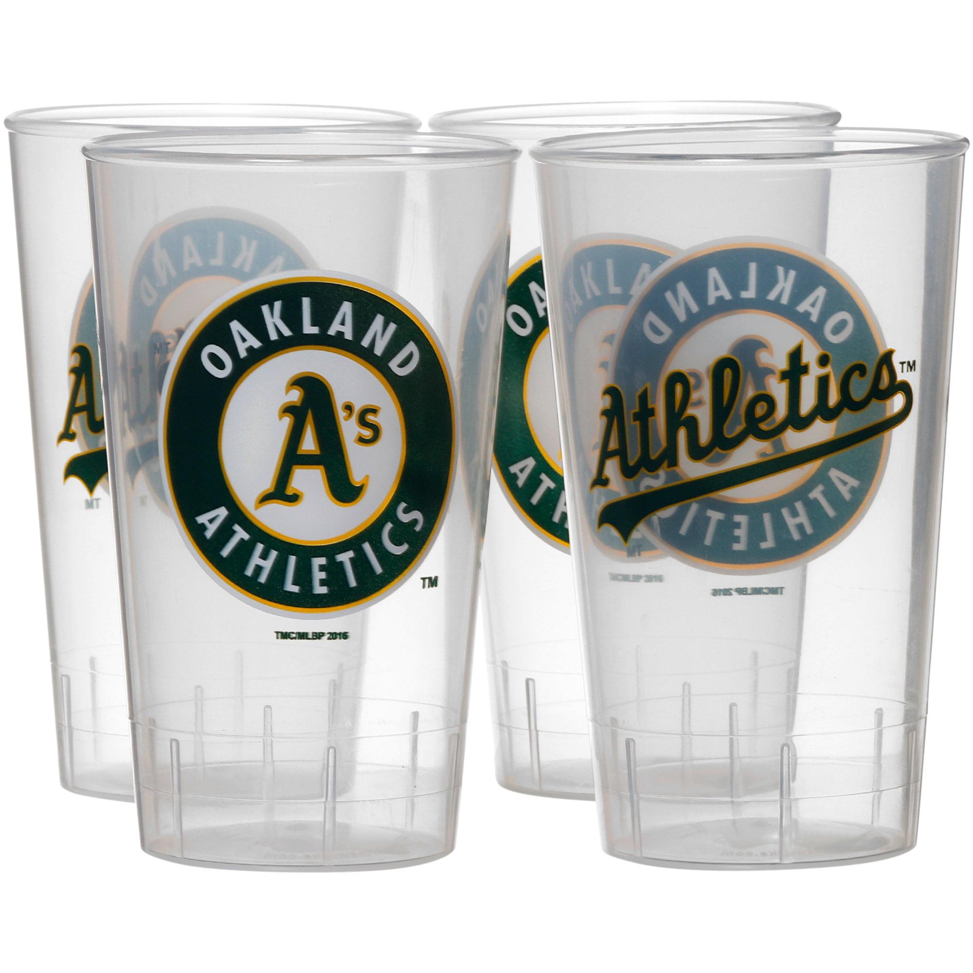 Oakland Athletics 16oz. Acrylic Tumblers 4-Pack Set - No Size