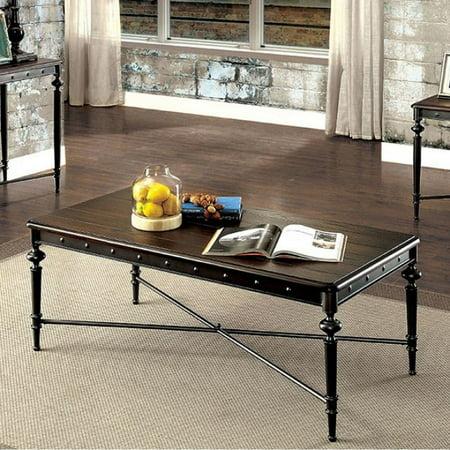 Ballina Industrial Style Coffee Table Matte Dark Gray