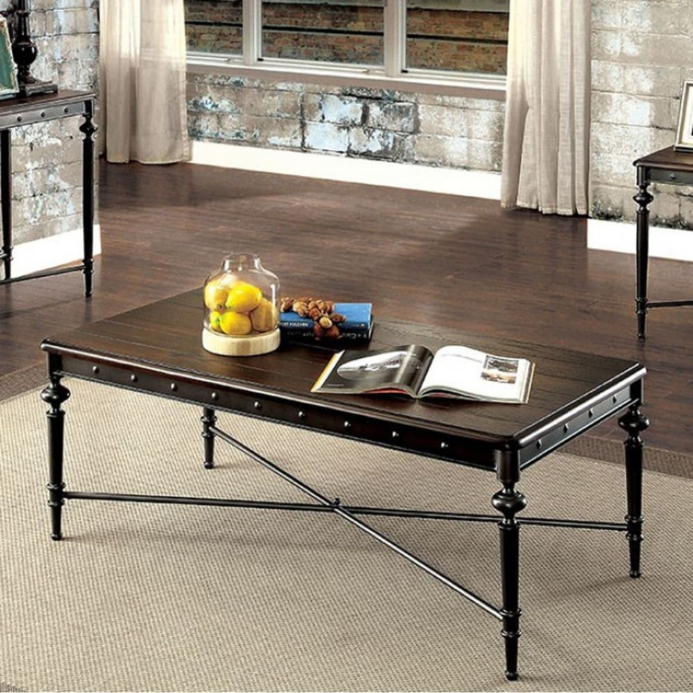 Etonnant Ballina Industrial Style Coffee Table, Matte Dark Gray