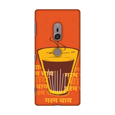 Sony Xperia XZ2 Case - Cutting Chai For The Soul, Hard Plastic Back Cover, Slim Profile Cute Printed Designer Snap on Case with Screen Cleaning (Best Cutting Chai In Mumbai)