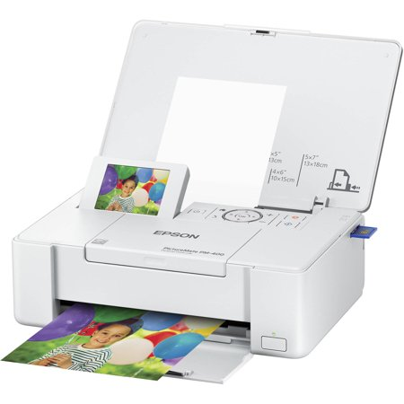 Epson PictureMate PM-400 Inkjet Printer - Color - 5760 x 1440 dpi Print - 50 Sheets Input - Wireless LAN