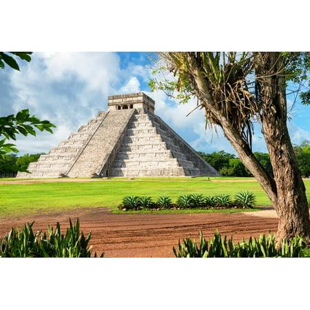 ¡Viva Mexico! Collection - El Castillo Pyramid in Chichen Itza XVI Print Wall Art By Philippe (Best Chichen Itza Tour)