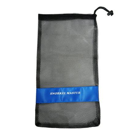 "Snorkel Master Snorkeling Drawstring Mesh Bag w/ Blue Bar- 19"" x 11.5"""