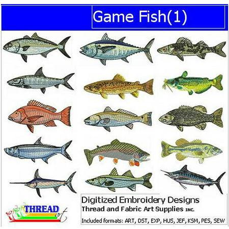 ThreadArt Machine Embroidery Designs Game Fish Version 1 CD