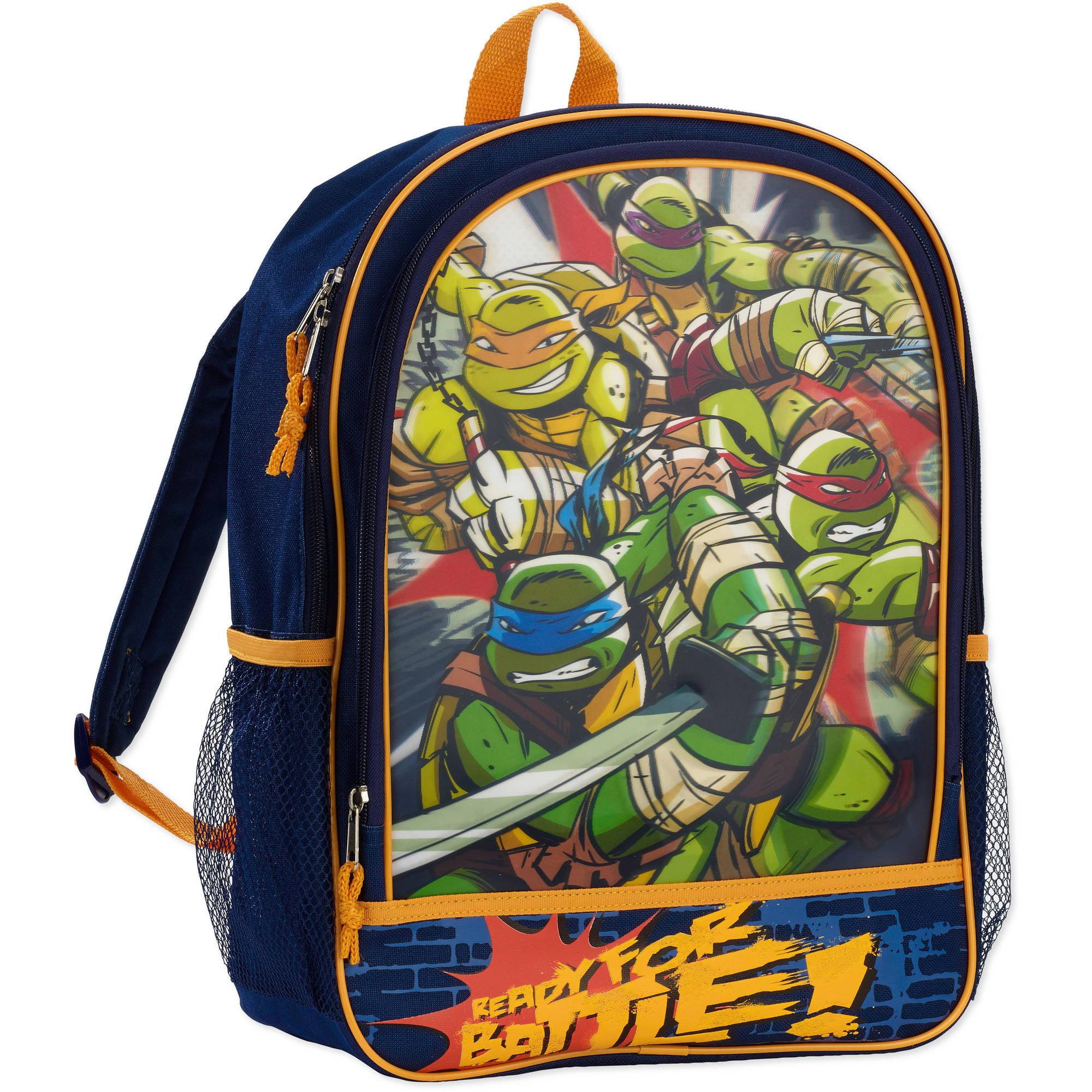 Nickelodeon Teenage Mutant Ninja Turtles 16'' 3D Front Pocket Kids Backpack