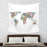 Deals on Mainstays World Wall Tapestry