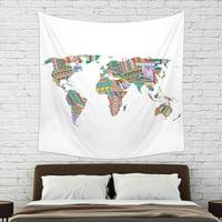 Mainstays World Wall Tapestry