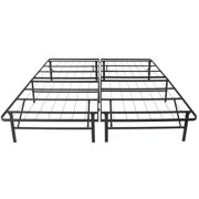 Platform Metal Bed Frame Foldable No Box Spring Needed Mattress Foundation Queen Image 3 Of 6