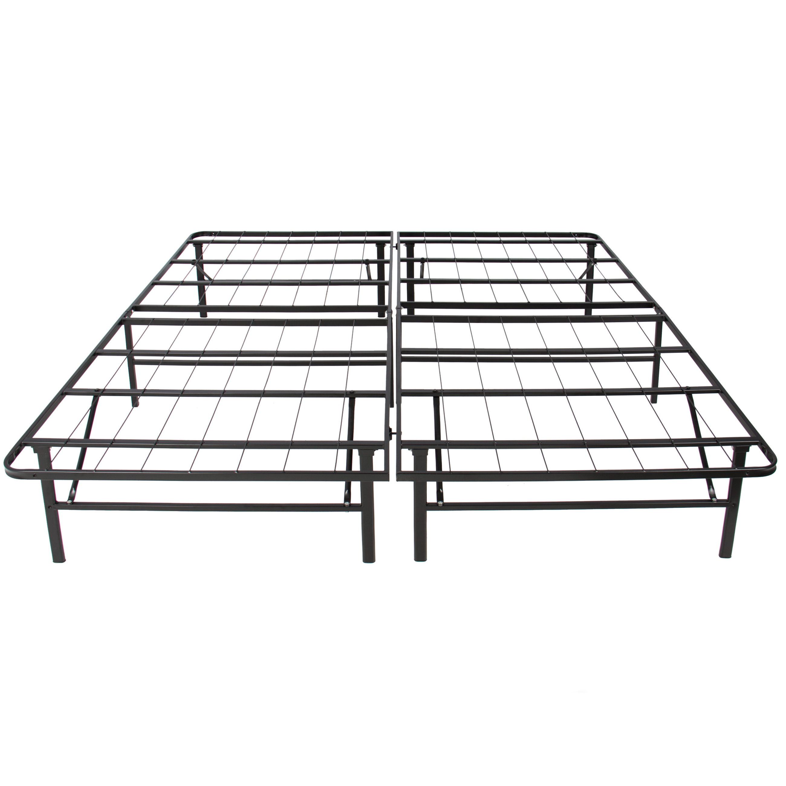 platform metal bed frame foldable no box spring needed mattress foundation queen image 3 of 6 - Box Springs Queen