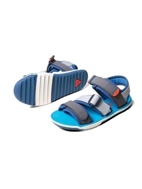 Boy's Plae Wes Customizable Sandal, Size 9 M - Aloha Blue