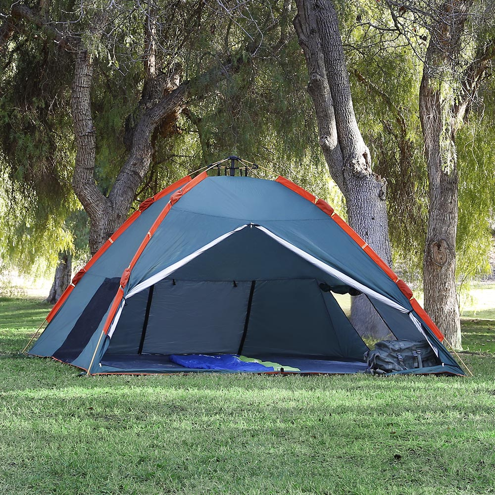 Qwest 4-6 person Pop Up Instant Tent 10'X10'X5' Water Resistant Camping Shelter Green by Qwest