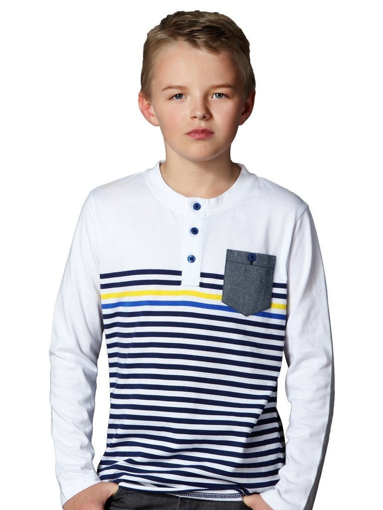 Leo&Lily Big Boys' Kids' Cardigan T shirts Yarn Dyed Stripe T- Shirt