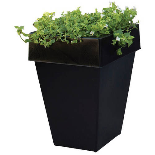Sofun 17-inch Plant Can Outdoor Garbage Can with Removable Lid