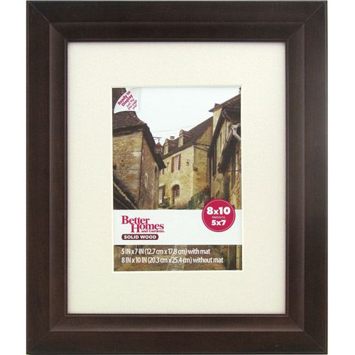 Better Homes and Gardens Studio 8x10 Wide Picture Frame, Mahogany