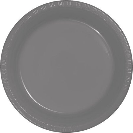 Creative Converting Glamour Gray Plastic Plates, 20 ct - Gray Paper Plates