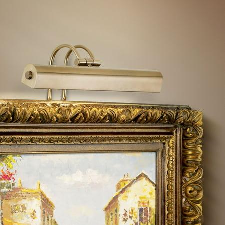 """Possini Euro Design Light Bronze 16"""" Wide Plug-In Picture Light"""