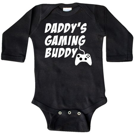 Inktastic Daddy's Gaming Buddy With Controller Long Sleeve Creeper Pop Culture
