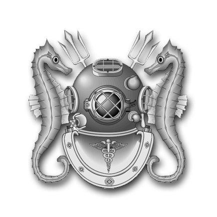 Navy Dive (3.8 Inch Navy Diving Medical Technician Vinyl Transfer Decal )