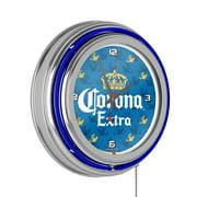 Corona Chrome Double Rung Neon Clock - Griffin