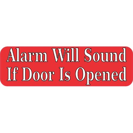 10in x 3in Alarm Will Sound Sticker Car Truck Vehicle Bumper Decal