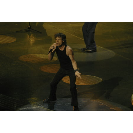 Mick Jagger of The Rolling Stones performing at the Madison Square Garden in New York City Photo
