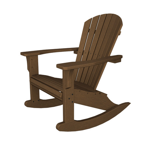 POLYWOOD Seashell Adirondack Rocking Chair by Polywood