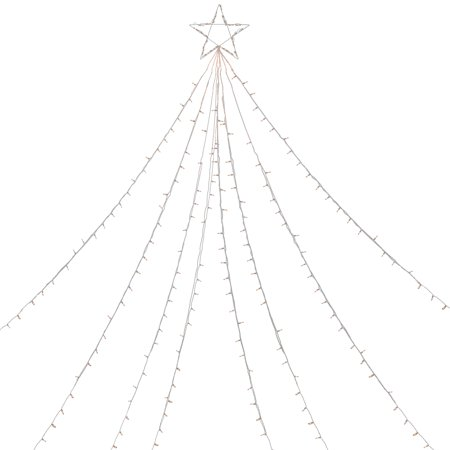 12' Clear Lighted Christmas Display Tree Outdoor Decoration Christmas Tree Outdoor Light