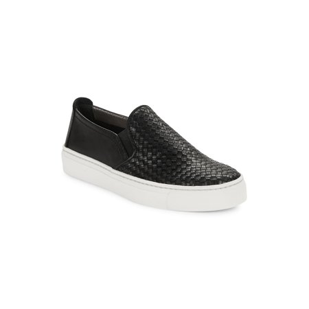 Sneak Name Woven Leather Sneakers (Best Designer Wedding Shoes)