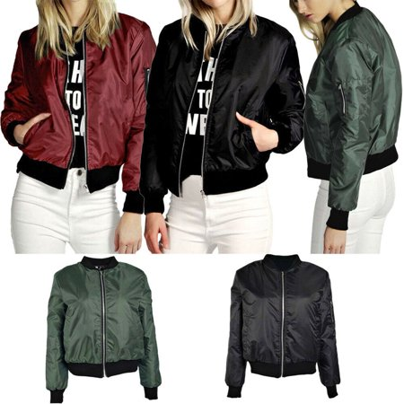 Women Casual Jacket Oblique Zipper Motorcycle Jacket Coat Blouse Outwear (Best Quality Motorcycle Jackets)