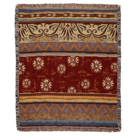 Western Santa Fe Tapestry Afghan Throw Blanket 50