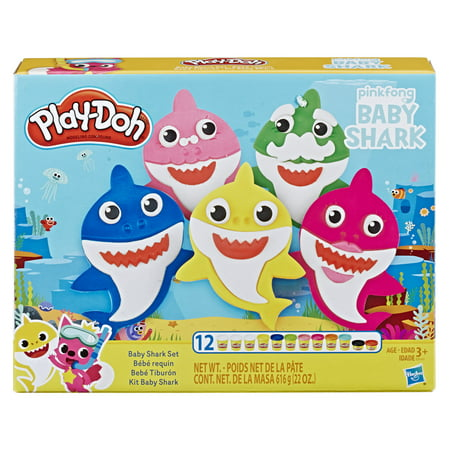 Play-Doh Pinkfong Baby Shark Set with 12 Play-Doh Cans and 21 Tools Now $9.99 (Was $15)