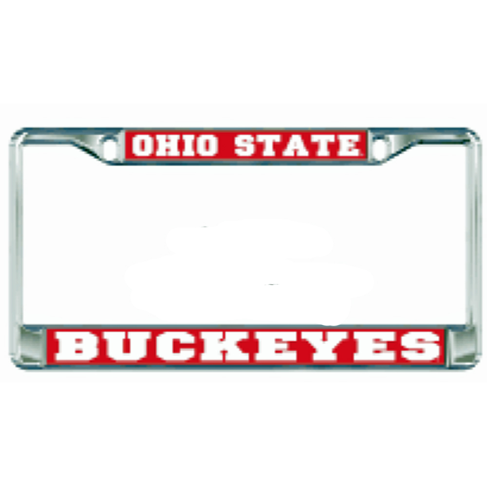Ohio State Metal License Plate Frame
