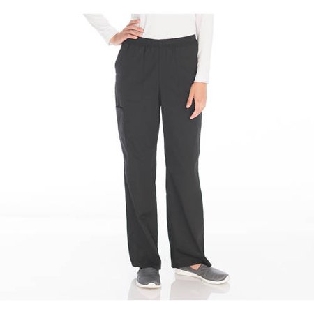 Scrubstar Womens Core Essentials Mechanical Stretch Pull On Scrub Pant Petite