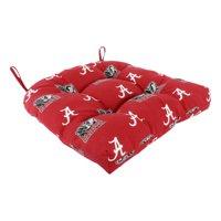 "Alabama Crimson Tide Indoor / Outdoor Seat Cushion Patio D Cushion 20"" x 20"", 2 Tie Backs"