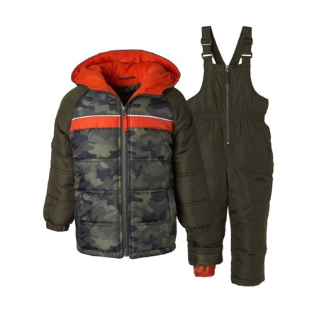 Camo Print 2 Piece Snowsuit (Little Boys) - Boy Suits For Cheap