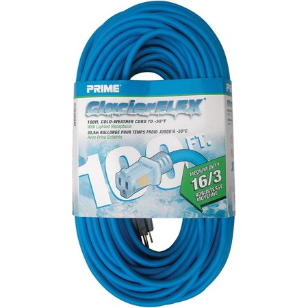 Prime Wire & Cable CW511635 100 Feet 16/3 SJTW 50 degree Cold ...